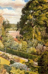 Stanley Spencer - Garden View. Cookham Dene
