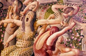 Stanley Spencer - The Resurrection. Wakin up
