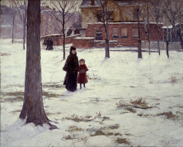 famous painting 16th Street, Indianapolis (Winter Morning) of Theodore Clement Steele