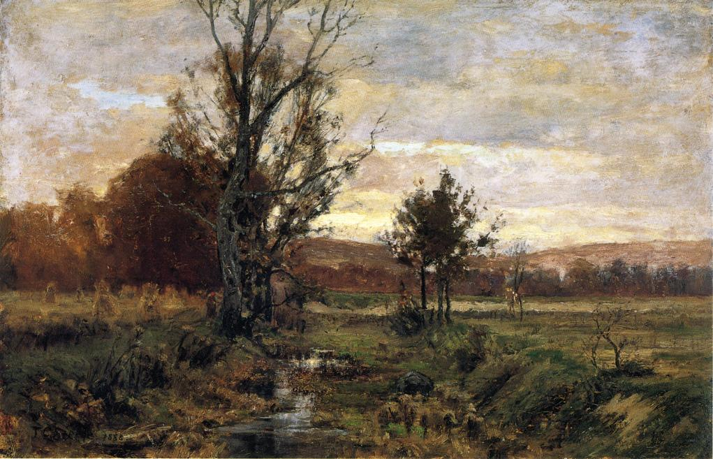 famous painting A Bleak day of Theodore Clement Steele