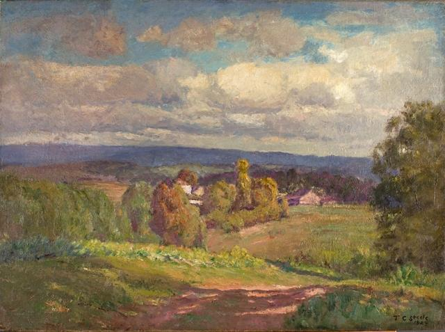 famous painting A Day of Clouds (Summer Sky, to the North) of Theodore Clement Steele