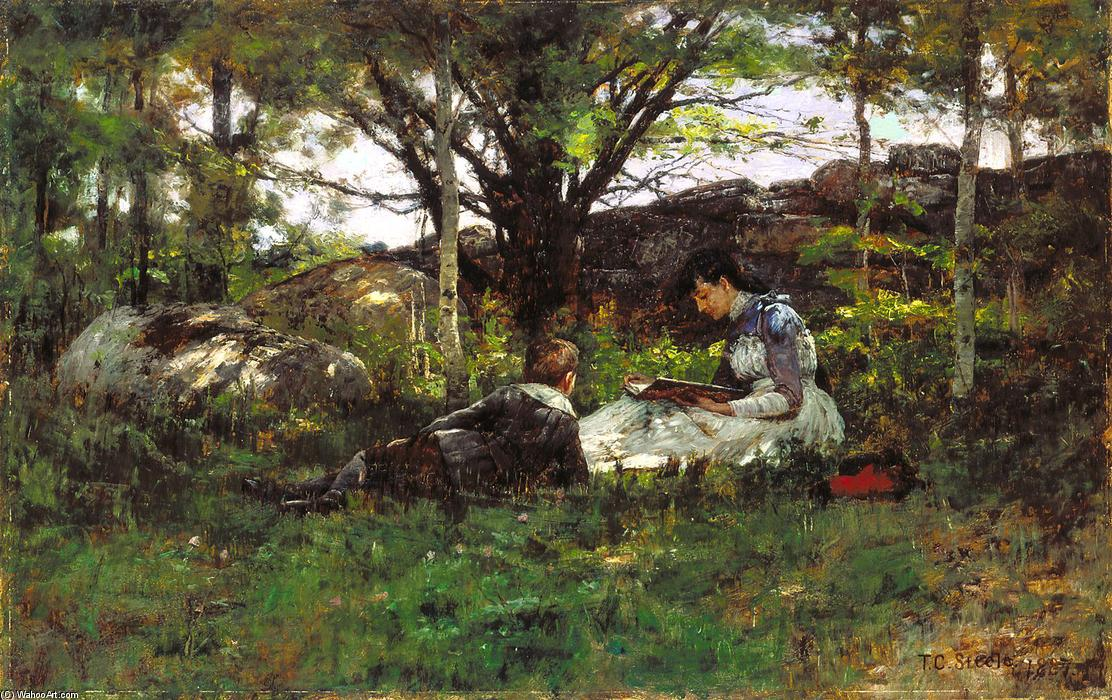 famous painting A June Idyl of Theodore Clement Steele