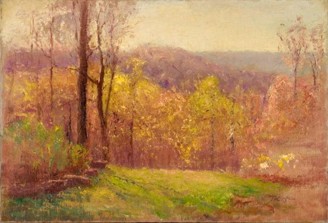 famous painting A Song of Spring of Theodore Clement Steele