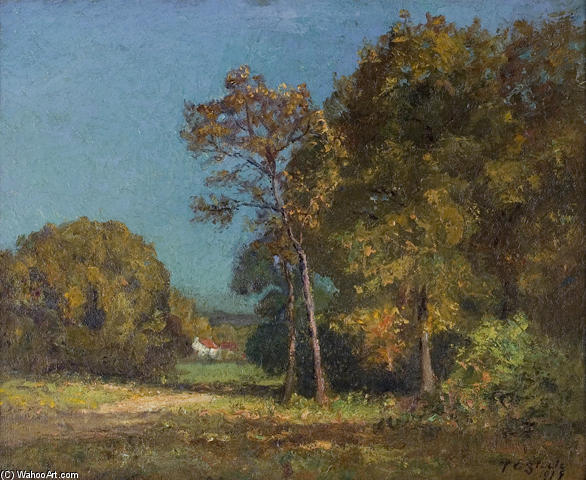 famous painting A Still October Day of Theodore Clement Steele