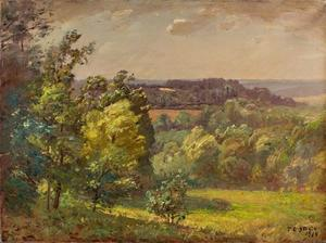 Theodore Clement Steele - Across the Valley (Salt Creek, A Windy Day)
