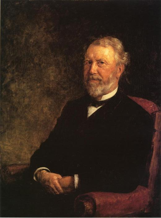 famous painting Albert G. Porter, Governor of Indiana of Theodore Clement Steele