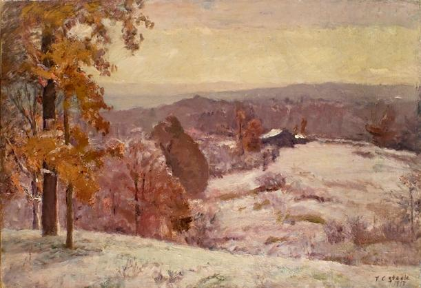 famous painting An Early Snow - Looking North of Theodore Clement Steele