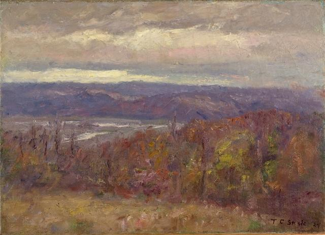 famous painting Autumn Evening in the Hills (Early Spring-Salt Creek Valley) of Theodore Clement Steele