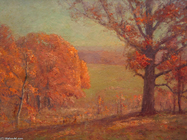 famous painting Autumn Morning of Theodore Clement Steele