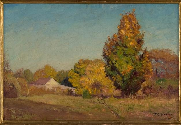 famous painting Autumn Scene of Theodore Clement Steele