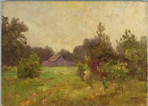 Theodore Clement Steele - Barn Near the Steele Home
