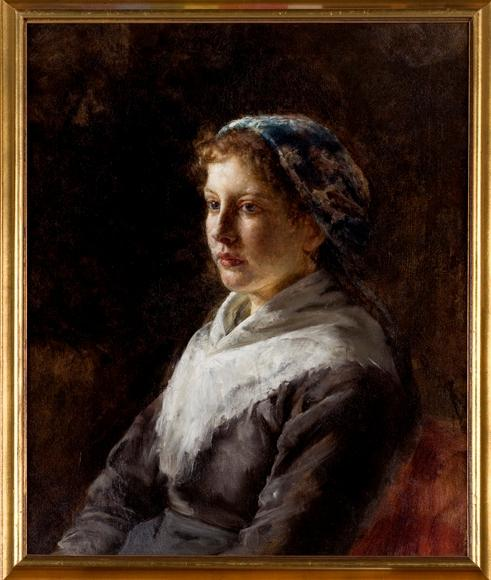 famous painting Bavarian Peasant Girl of Theodore Clement Steele