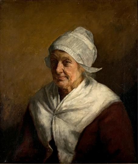 famous painting Bavarian Peasant Woman of Theodore Clement Steele