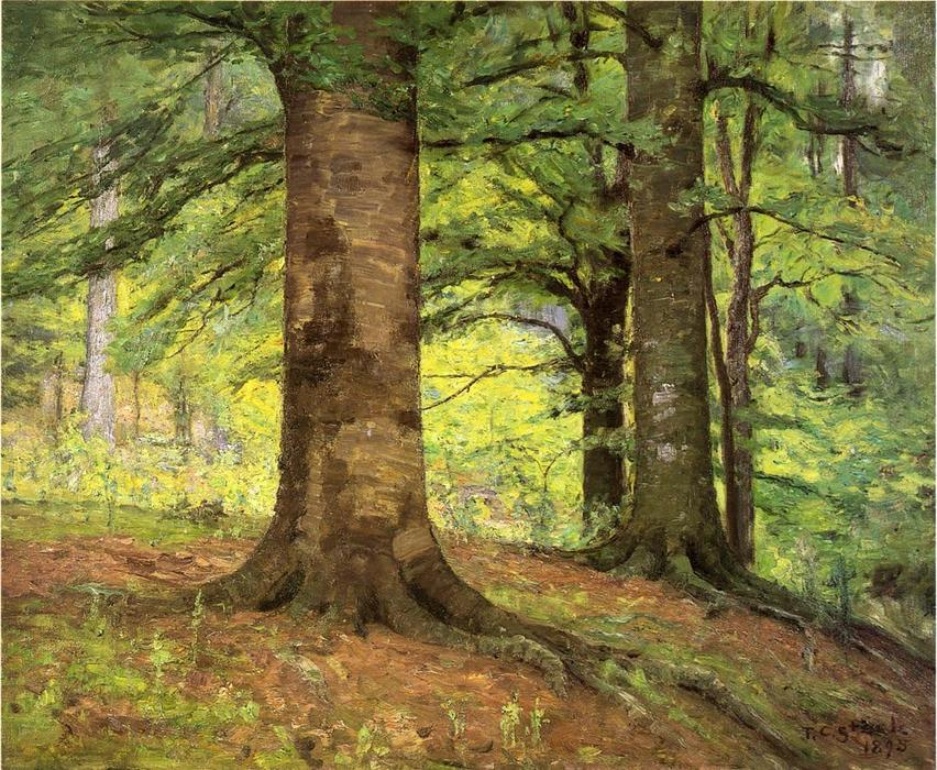 famous painting Beech Trees of Theodore Clement Steele