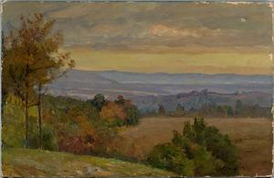 Theodore Clement Steele - Blue Range in Afternoon (Early Autumn)