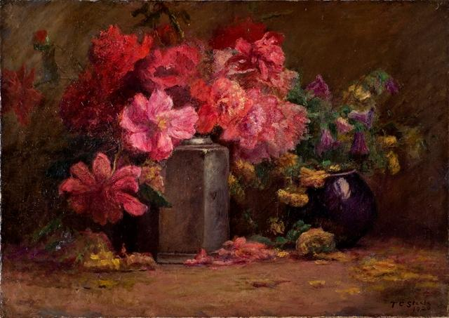 famous painting Bouquet of Flowers of Theodore Clement Steele