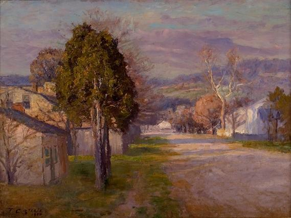 famous painting Brookville - A Street of Theodore Clement Steele