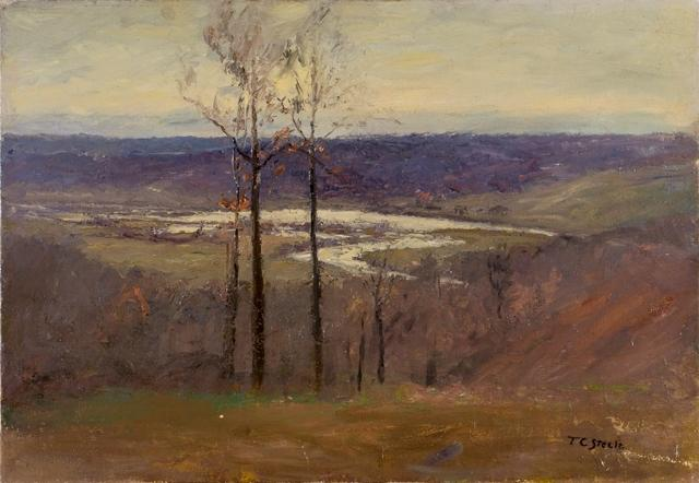 famous painting Early Snow (Flood, Salt Creek Valley) of Theodore Clement Steele