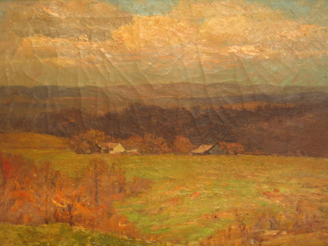 famous painting Farm in the Wooded Hills of Theodore Clement Steele