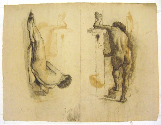 famous painting Figure studies of male nude of Theodore Clement Steele