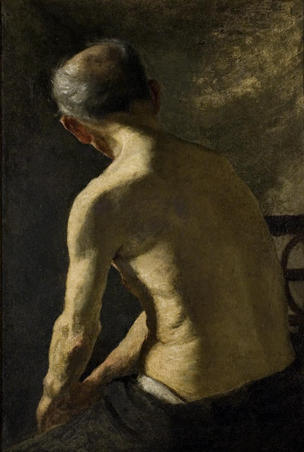 famous painting Figure Study. Man's Back of Theodore Clement Steele
