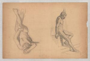 Theodore Clement Steele - Figures studies of male nude