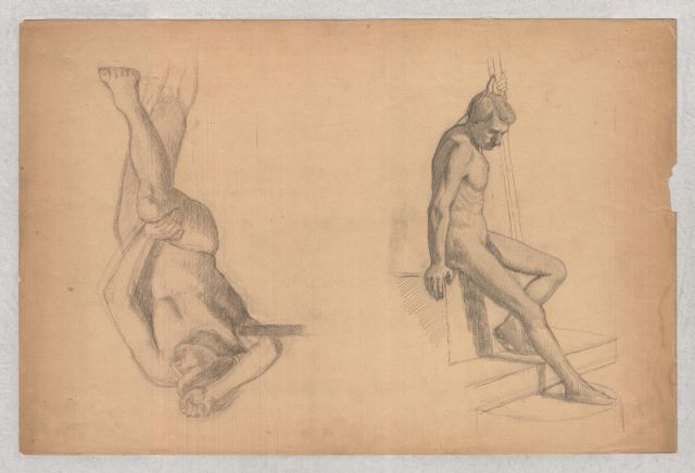 famous painting Figures studies of male nude of Theodore Clement Steele