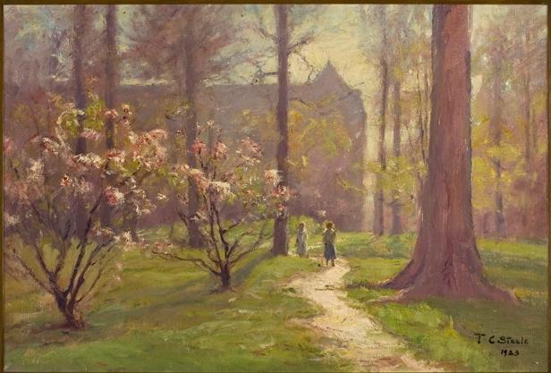 famous painting Flowers in Spring (Magnolias in Bloom of Theodore Clement Steele