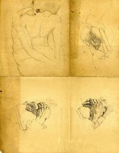 Theodore Clement Steele - Hand studies