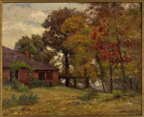 famous painting Home in the Woods of Theodore Clement Steele