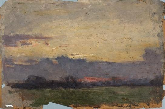famous painting Horizon Landscape Study of Theodore Clement Steele