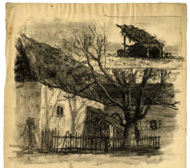 famous painting House and tree of Theodore Clement Steele