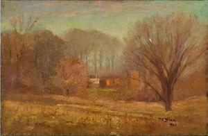 Theodore Clement Steele - House in the Evening Mist