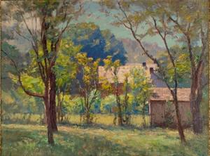 Theodore Clement Steele - House in the Woods