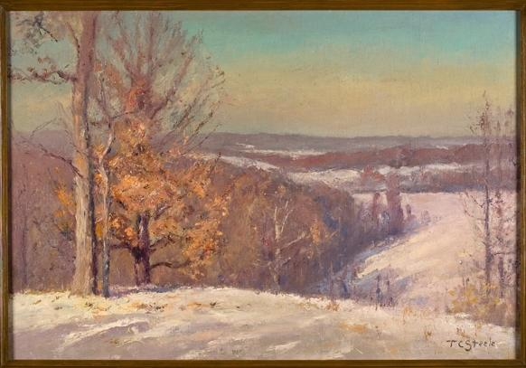famous painting In Winter, The North Slope (Winter Hills) of Theodore Clement Steele