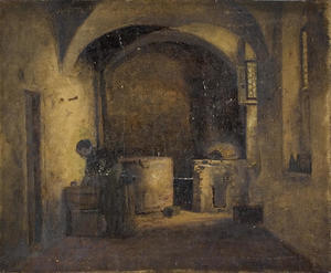 Theodore Clement Steele - Interior scene