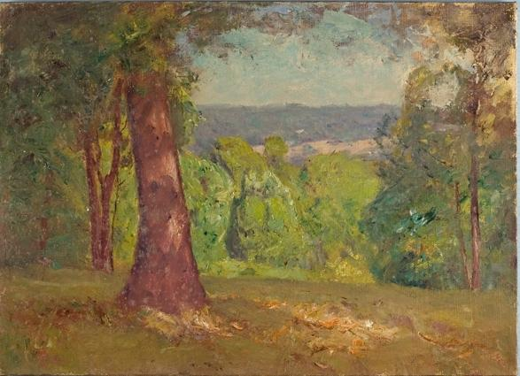 famous painting Landscape (The Oak) of Theodore Clement Steele
