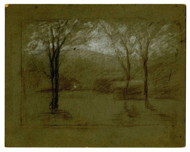 famous painting Landscape 7 of Theodore Clement Steele