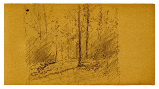 famous painting Landscape sketch 1 of Theodore Clement Steele