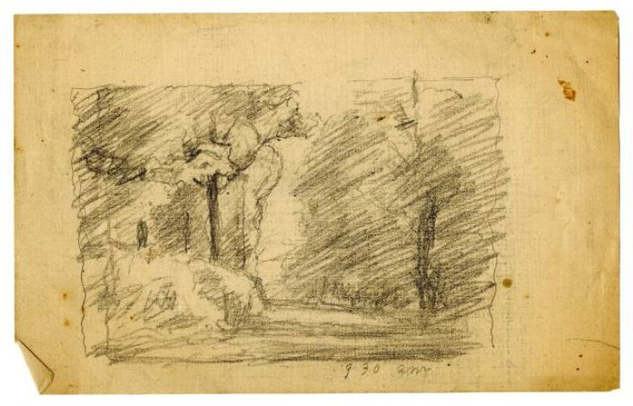 famous painting Landscape sketch 13 of Theodore Clement Steele