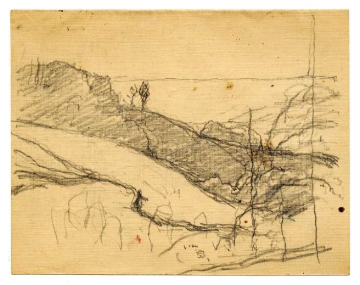 famous painting Landscape sketch 5 of Theodore Clement Steele