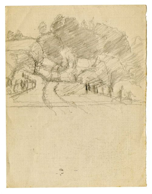 famous painting Landscape sketch 7 of Theodore Clement Steele