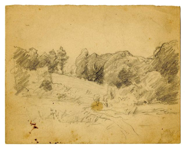 famous painting Landscape sketch 8 of Theodore Clement Steele