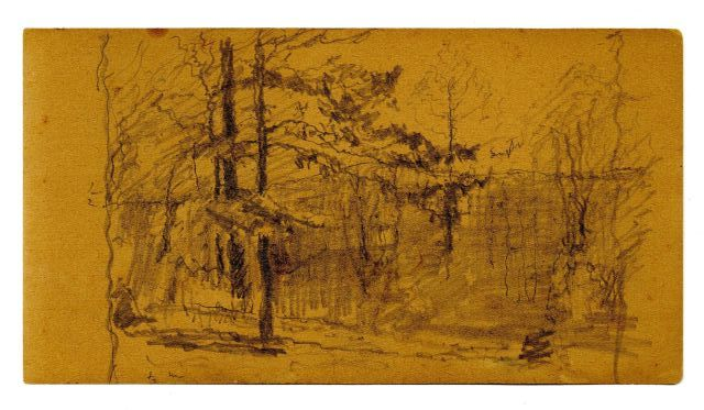 famous painting Landscape sketch 9 of Theodore Clement Steele