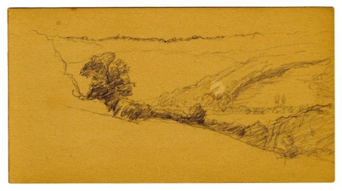 famous painting Landscape sketch 10 of Theodore Clement Steele