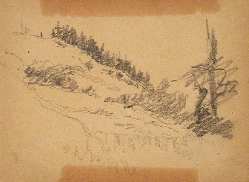 famous painting Landscape Sketch of Theodore Clement Steele