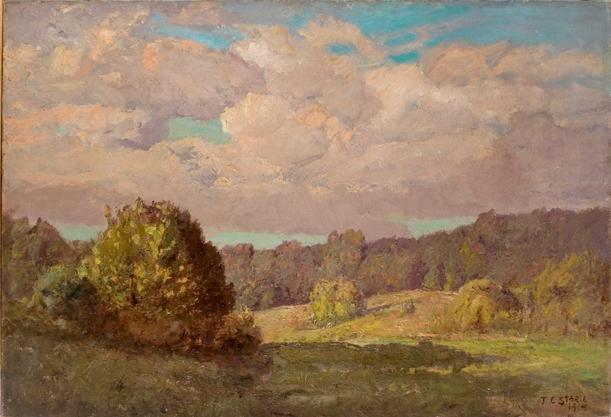 famous painting Landscape under Noon Day Sun of Theodore Clement Steele
