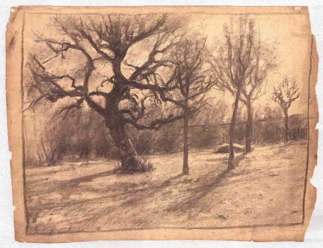 famous painting Landscape with gnarled tree of Theodore Clement Steele