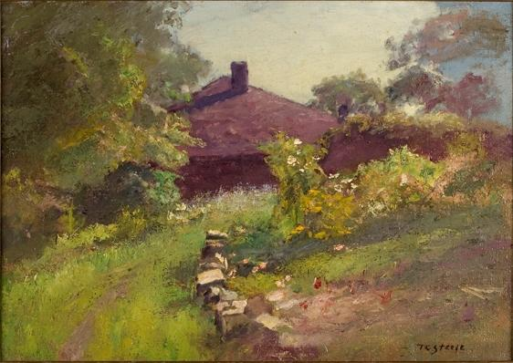 famous painting Lane Among the Trees to the House of Theodore Clement Steele