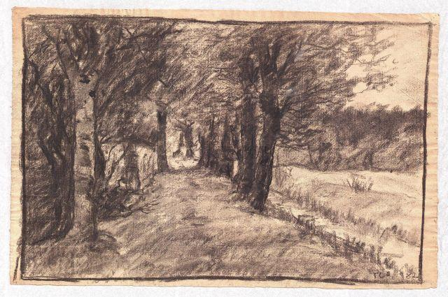 famous painting Lane through the Woods of Theodore Clement Steele